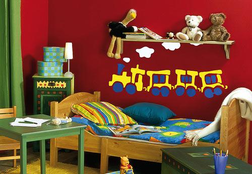 Детская комната и красный цвет