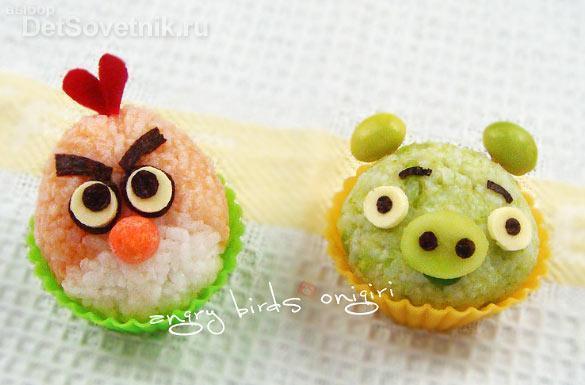 Как украсить еду для детей. Angry birds 2